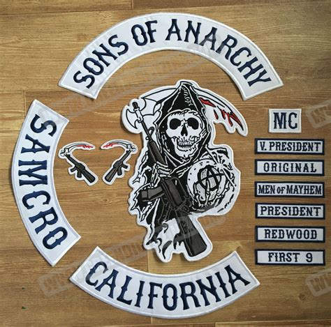 sons of anarchy patches popular motorcycle club patches buy cheap motorcycle club