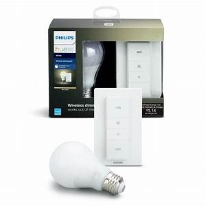 Philips Smart Home : philips hue smart wireless dimming kit 1 a19 led 60w equivalent warm white bulb and remote ~ Frokenaadalensverden.com Haus und Dekorationen