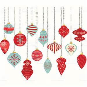 christmas ornamentschristmas balls decorationschristmas hanging decoration set stock vector art