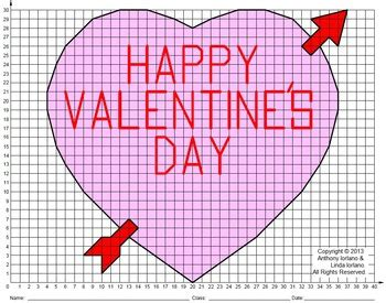 valentine heart coordinate drawing coordinate graphing