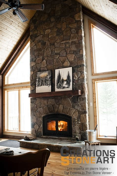 fireplace   tudor  country fieldstone