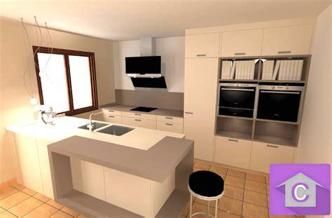 modele de plan de travail cuisine cuisine leicht avec îlot