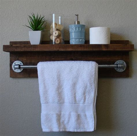 bathroom shelves  towel bar woodworking projects plans