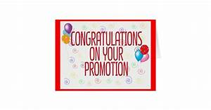 Congratulations On Your Promotion Card | Zazzle
