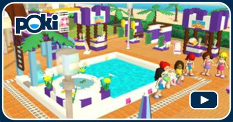 lego friends pool party  spiele kostenlos auf