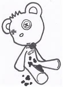 Teddy Bear Tattoos Stencil