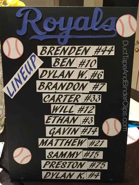 Batting Lineup Magnetic Board Baseball Lineup Baseball