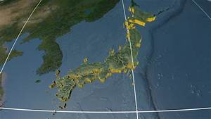 Night To Day - Rotating Earth. Zoom In On Japan Outlined ...