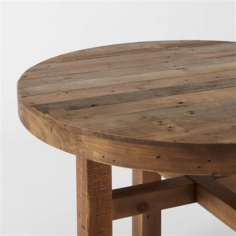 Emmerson™ Reclaimed Wood Round Dining Table  West Elm