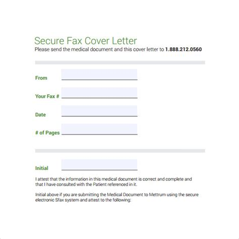 medical fax cover sheet  documents   word