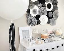 Table Decorations Black And White Theme Black And White Party Decorations Sandy Party Decorations