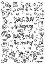 Colouring Sheets Downloadable Keyworker sketch template