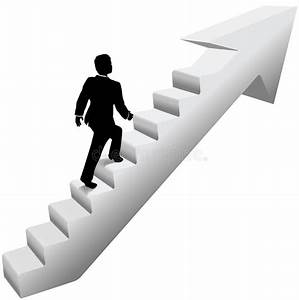Business Man Climb Stairs Success Stock Vector ...