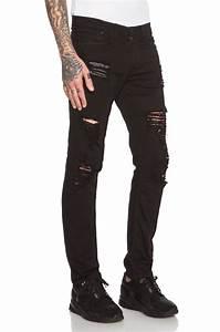 Stampd Distressed Essential Jean in Black | Lyst