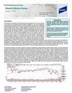 Weekly Market Notes - January 7, 2019   Seeking Alpha