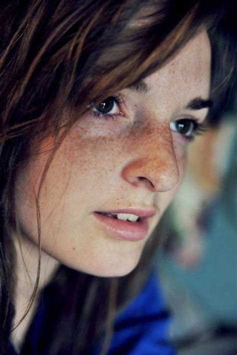 Pretty Girls With Freckles On Face