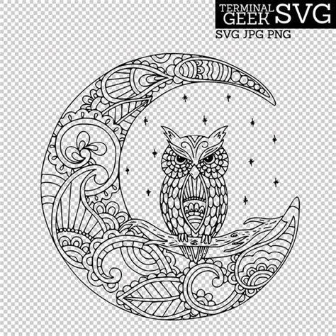 .mandala owl svg, owl lover vector, zentangle owl svg, owl for cricut, zentangle for cricut, owl png, owl mandala free, zentangle bird svg, svghubs.com, cut files for cricut, instant download svg. Owl on the Moon Zentangle Mandala SVG PNG JPG Cricut ...