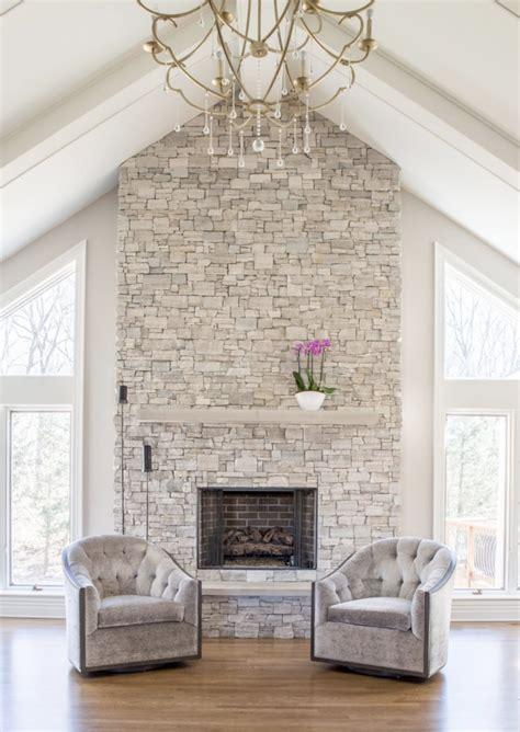 stone veneer fireplace surround design trends