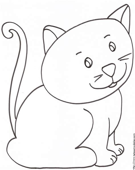 coloriage du petit chat assis t 234 te 224 modeler