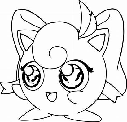 Jigglypuff Coloring Pages Pokemon Printable Colorings Sheets