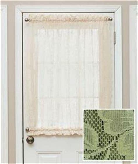 elegant lace door window sidelight curtain panel w rod
