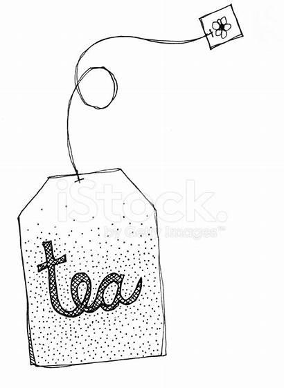 Tea Clipart Clip Bag Teebeutel Doodles Doodle