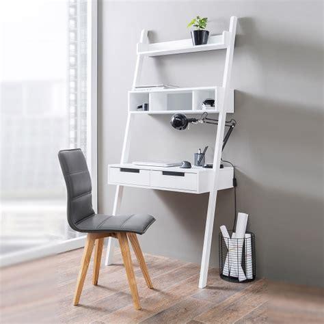 small white computer desk uk retro ladder style computer desk in white with