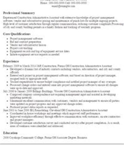 Construction Admin Assistant Resume by The World S Catalog Of Ideas