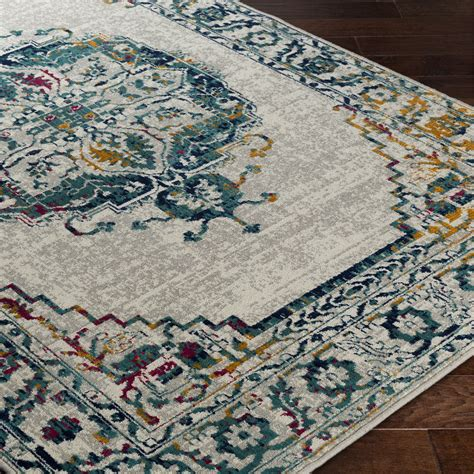 Teal And Gray Area Rug by Bungalow Puran Gray Teal Area Rug Wayfair