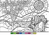Coloring Number Spring Pages Numbers Printable Printables Worksheets Adults Sheets Paint Advanced Worksheet Dot Math Children Supercoloring Medium Bouncy Castle sketch template