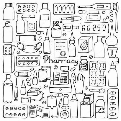 Doodle Pharmacy Farmacia Medical Drawing Doodles Della