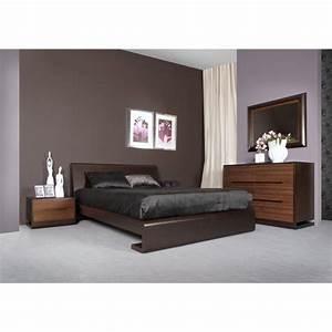 Chambre adulte bois tacapa lit 140 ou 160 chevet 2 for Chambre a coucher adulte avec matelas thiriez prix