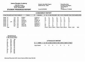 sample fake report card template real result card for With fake college report card template