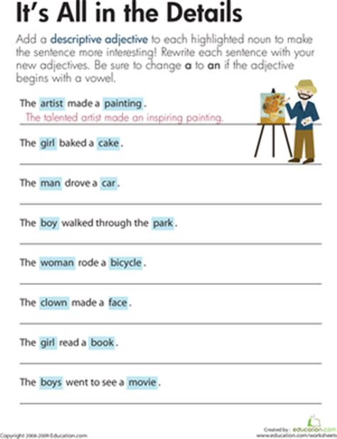 descriptive adjectives it s all in the details
