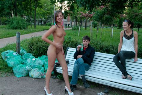 Shameless Russian Teen Slut Walks Naked Before Strangers At Park Russian Sexy Girls