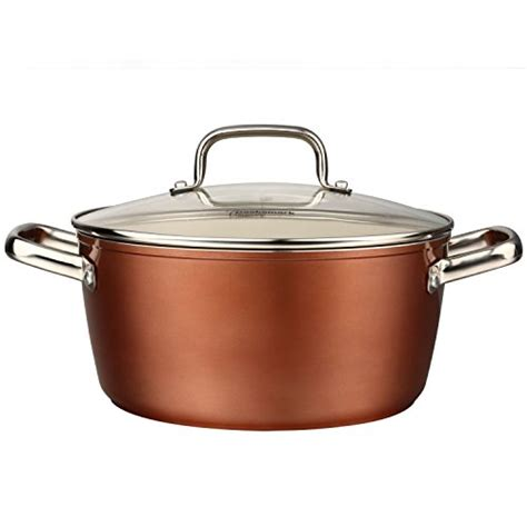 pots  pans set cooksmark ceramic cookware copper finish nonstick  dishwasher safe