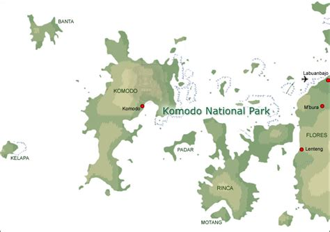 map  komodo national park indonesia