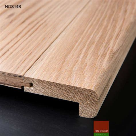 Stair Nosing   solid natural Oak