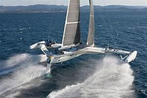 Vitesse De Croisière : l 39 hydropt re d tenteur du record absolu de vitesse la voile mer et marine ~ Medecine-chirurgie-esthetiques.com Avis de Voitures