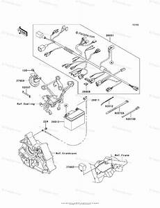 Kawasaki Motorcycle 2010 Oem Parts Diagram For Chassis