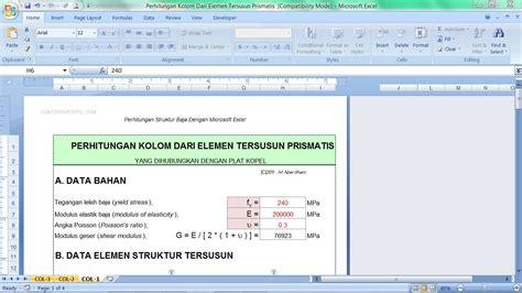 analisa dan perancangan pondasi 1 dan 2 by hary christiyadi h perhitungan kolom dari elemen tersusun prismatis seri 9