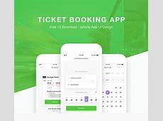 Ticket Booking App Design UI Kit FREE Xd Download