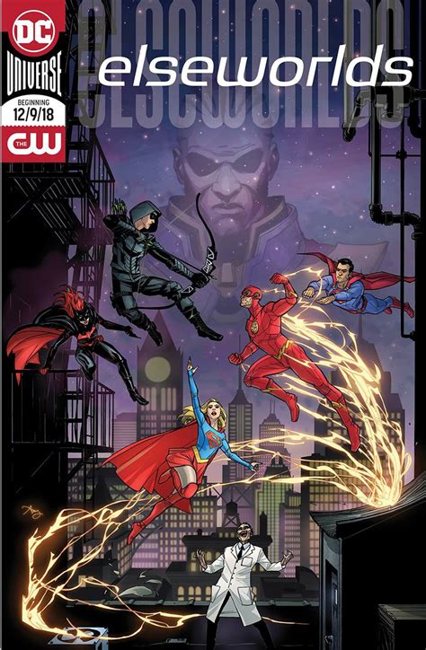 arrowverse elseworlds crossover  comic book poster