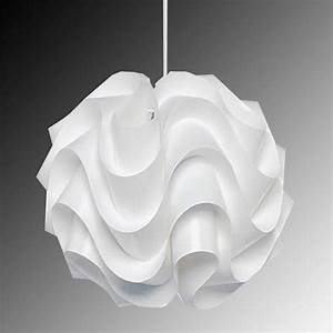 Modern le klint b pendant light white plastic shade