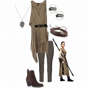 Rey *Star Wars The Force Awakens* by pearl-marley on Polyvore featuring BCBGMAXAZRIA Zhenzi ...