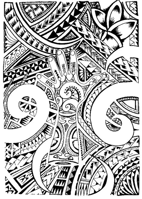 art therapy coloring page tattoos maori tattoo
