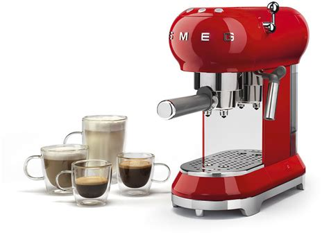 Espresso coffee machines and drip coffee machines, appliances combination of quality, technology, style and design of smeg. Smeg ECF01RDUS 50's Retro Style Espresso Coffee Machine ...