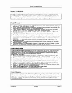 Project scope statement example pdf project scope template for Scope documents project management