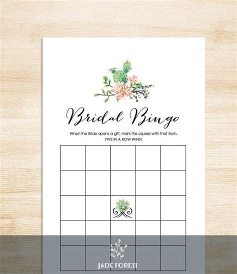 bridal shower bingo diy succulent cactus mexican