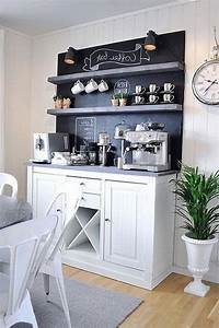 35, Smart, Diy, Coffee, Bar, Design, Ideas, For, Kitchen